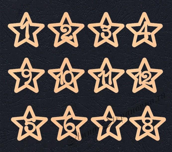 Набор «Цифры. Звезды» персиковые из фетра