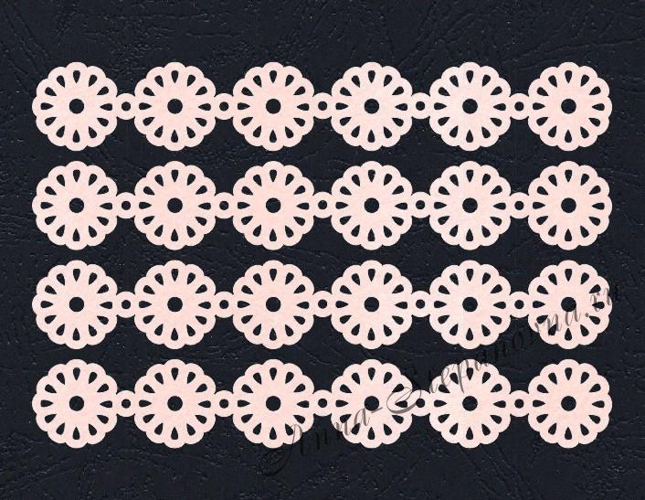 Набор «Кружево. Ромашки» розовые из фетра