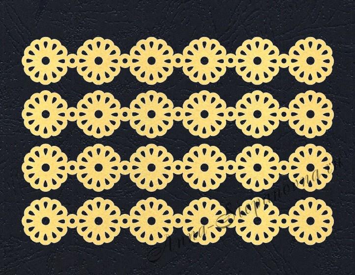 Набор «Кружево. Ромашки» желтые из фетра