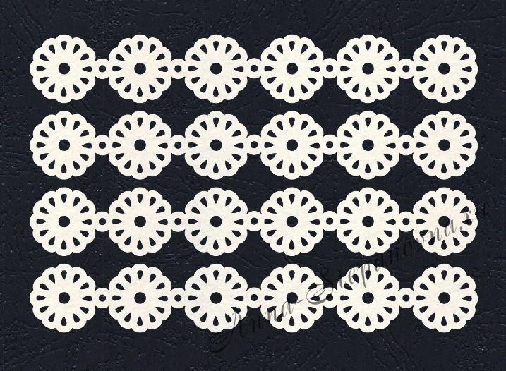 Набор «Кружево. Ромашки» белые из фетра