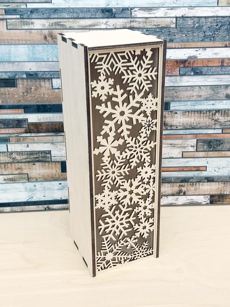 Короб для вина «Снежинки»