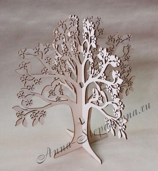 Дерево для украшений с цветочками