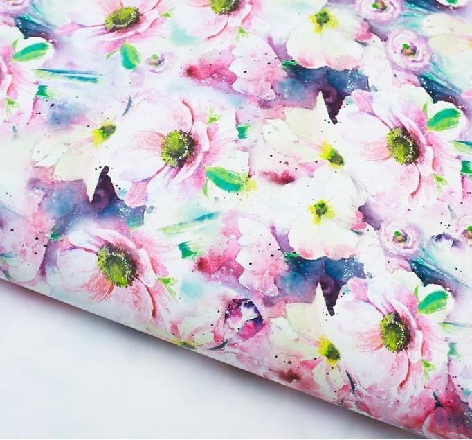Бумага упаковочная «Пастельные цветы»