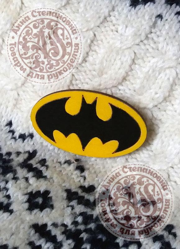 Значок деревянный «Бэтмен»