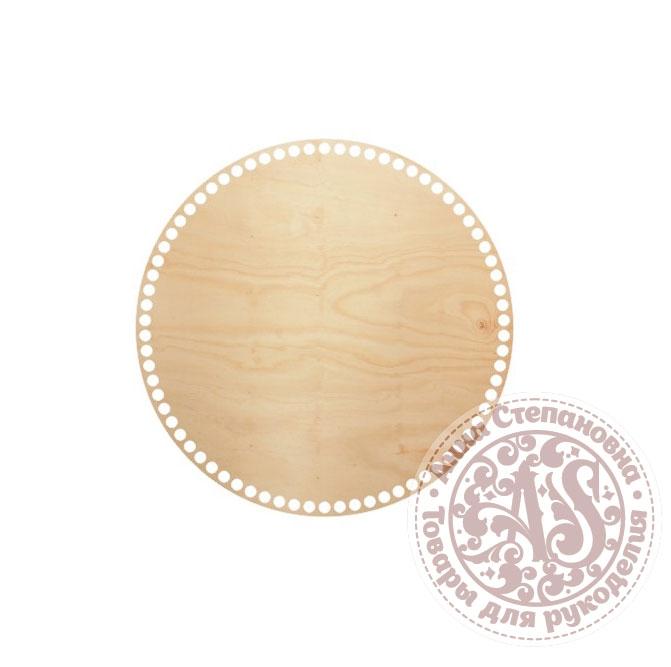 Деревянное донышко «Круг» для корзины 30 см