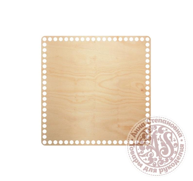 Деревянное донышко «Квадрат» для корзины 25х25 см
