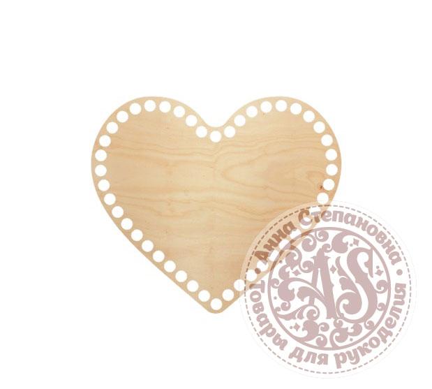 Деревянное донышко «Сердце» для корзины