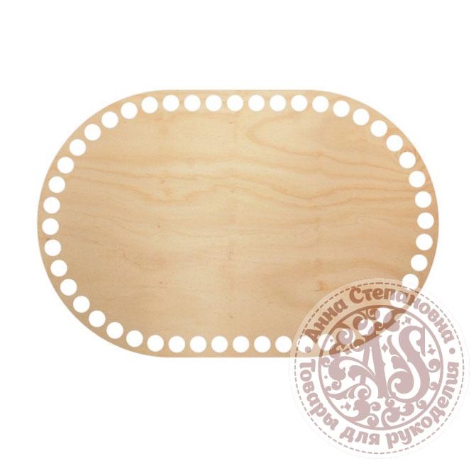 Деревянное донышко «Овал с прямыми боками» 15х22,5 см