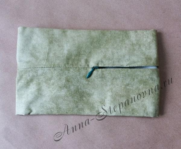 Задник для подушки с молнией, саванна