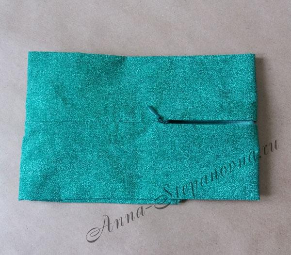 Задник для подушки с молнией, зеленый