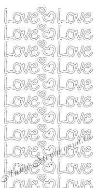 Наклейка супер-эффект «Love»