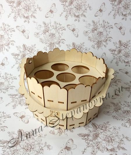Подставка пасхальная под 7 яиц «Кадка»