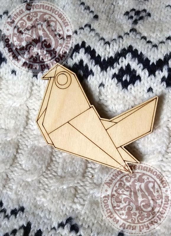 Заготовка «Голубь. Оригами» значок
