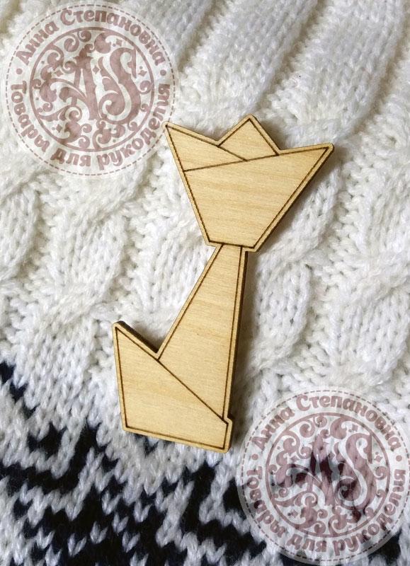 Заготовка «Тюльпан. Оригами» значок