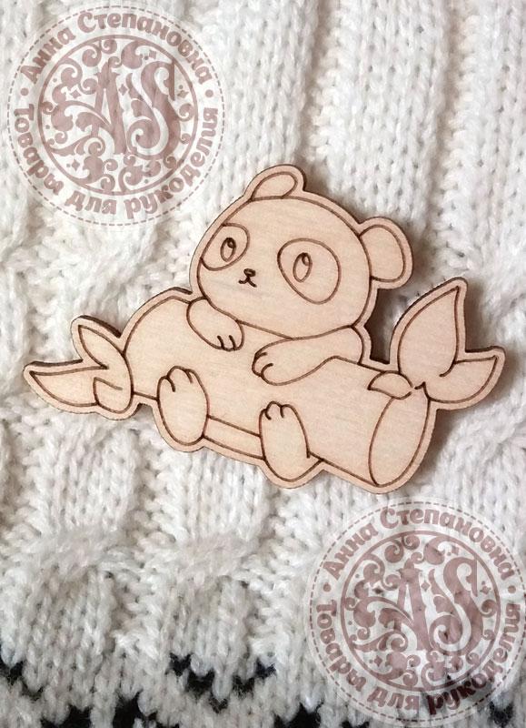 Заготовка «Панда и бамбук» значок