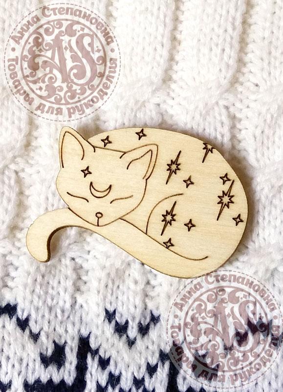 Заготовка для значка «Ночной кот»