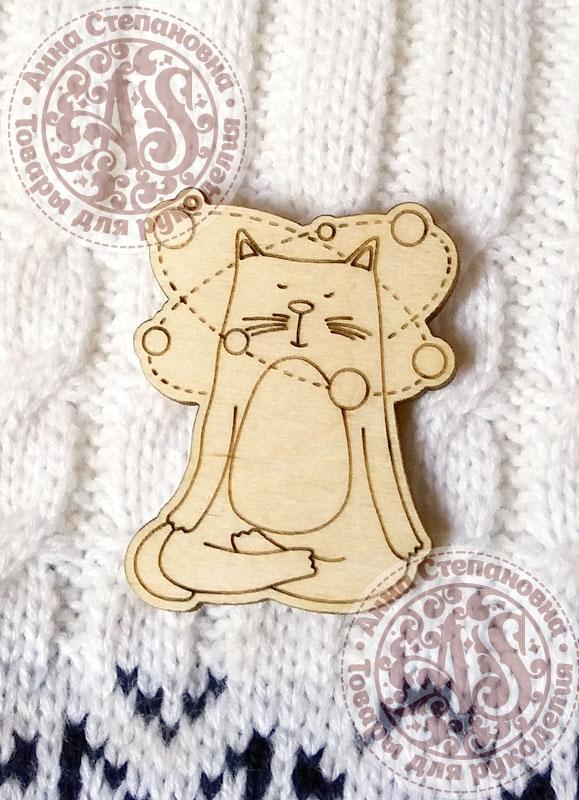 Заготовка для значка «Кот. Медитация»