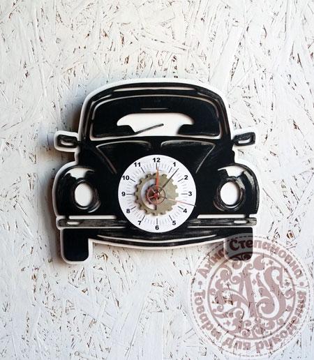 Часы деревянные «Машина»
