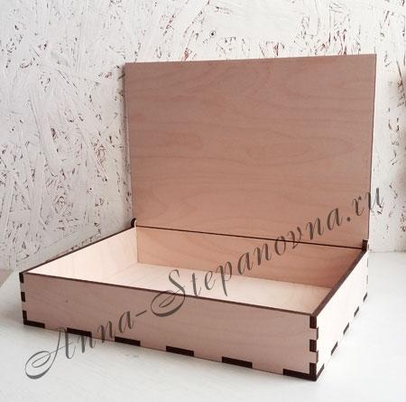 Коробка с распашной крышкой