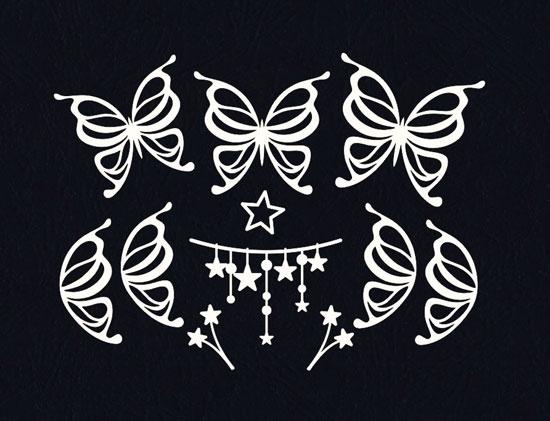 Чипборд оптом Бабочки и звезды
