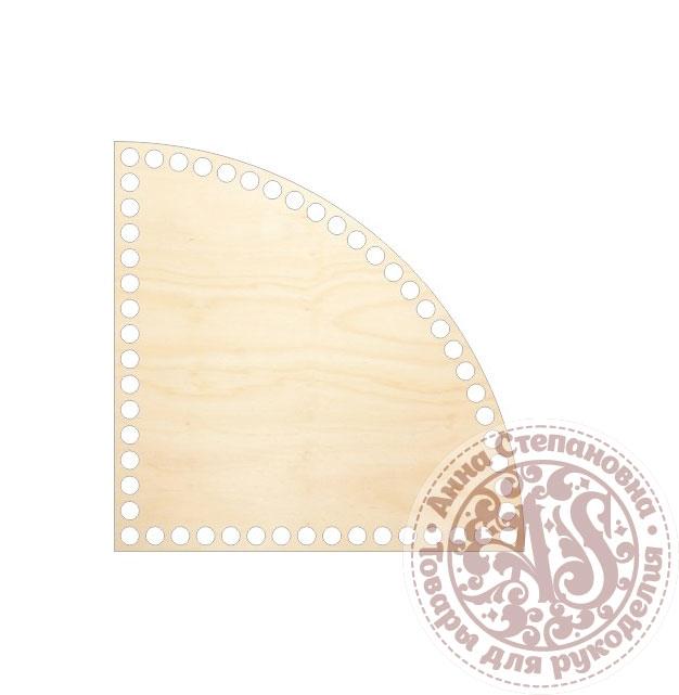 Деревянное донышко «Четверть круга» для корзины