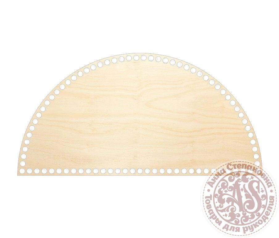 Деревянное донышко «Полукруг» для корзины
