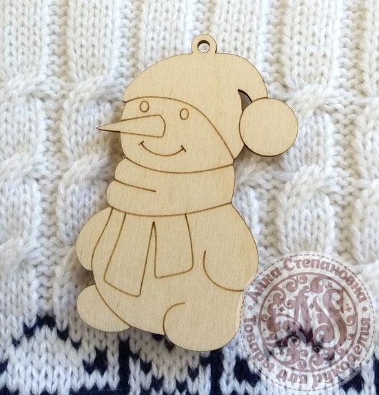 Ёлочная игрушка подвеска Снеговик