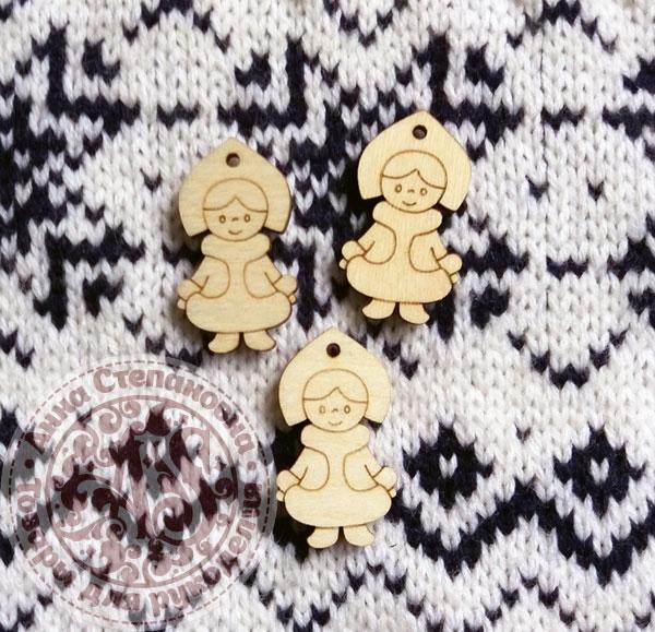 Декор деревянный «Снегурочка»