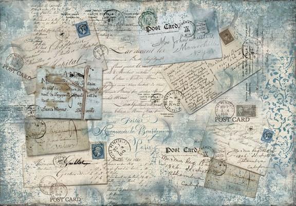 Бумага рисовая для декупажа Почтовые карточки