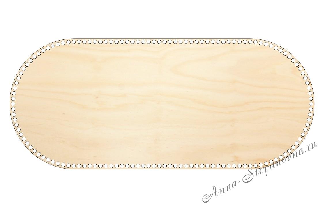 Деревянное донышко «Овал с прямыми боками» для люльки