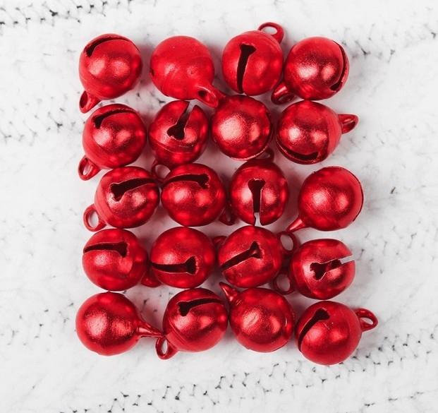 Бубенчики красные, набор 20 шт.
