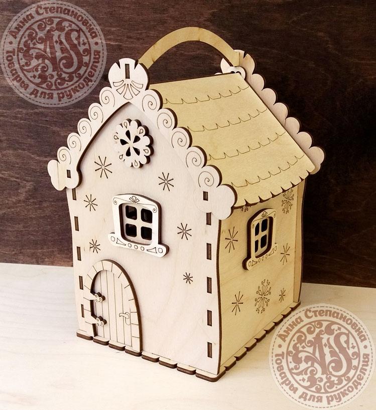 Коробка Снежный домик для конфет