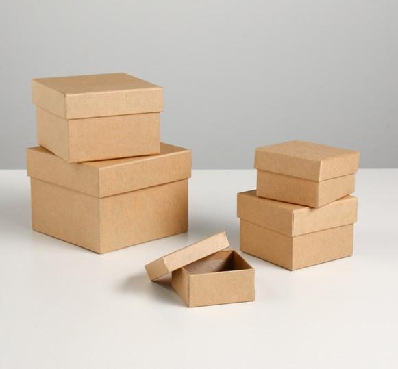 Набор крафт коробок 5в1