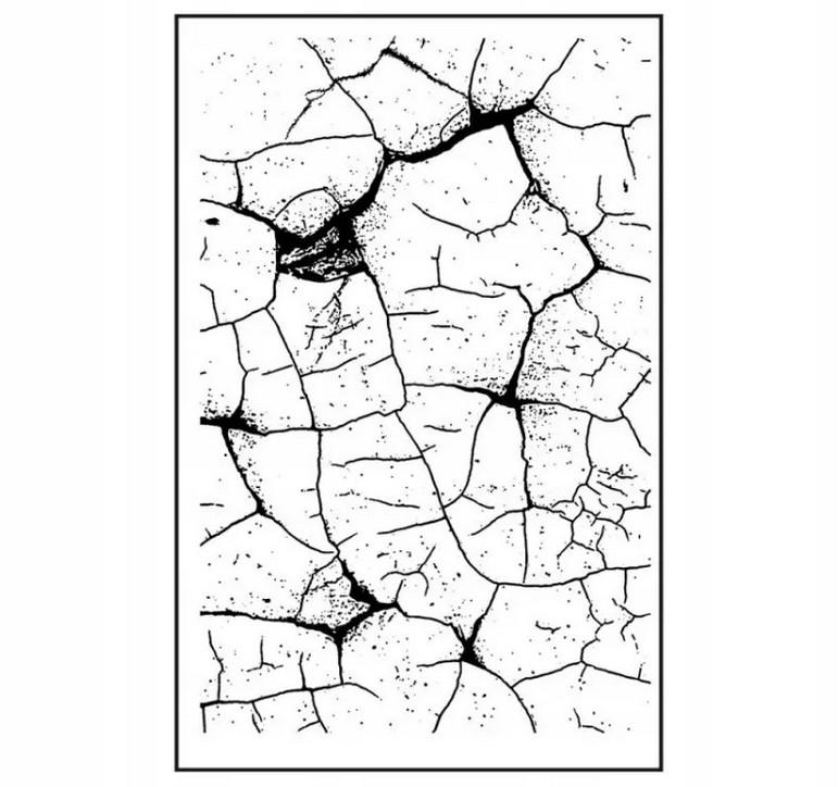 Штамп на резиновой основе HD «Тонкий кракле»