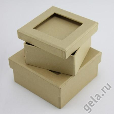 Набор квадратных коробочек паспарту