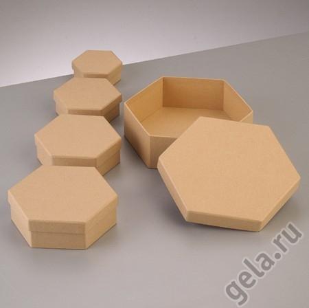 Набор коробочки шестиугольные Соты