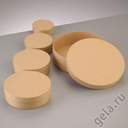 Набор коробочки круглые Крафт