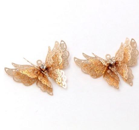 Подвеска Бабочка волшебная золото