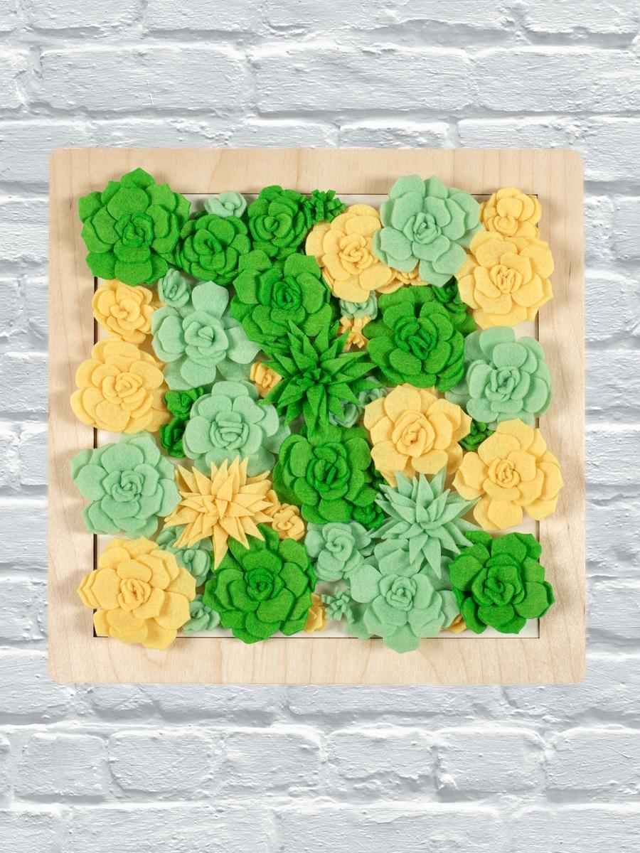 Набор для создания панно из фетра «Май. Весенняя зелень»