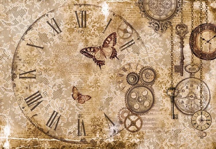 Бумага рисовая для декупажа Время, кружево, бабочки