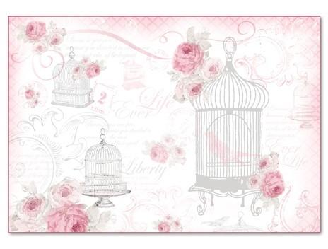Бумага рисовая для декупажа La Vie en Rose Cages