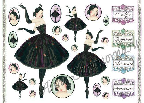 Бумага рисовая для декупажа Балерина