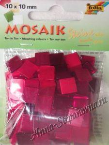 Декоративная мозаика пластиковая «Тонированная» красная