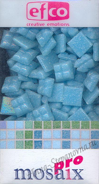 Декоративная керамическая мозаика небесно-голубая