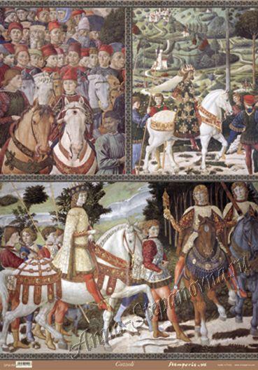 Большая карта для декупажа Средневековье