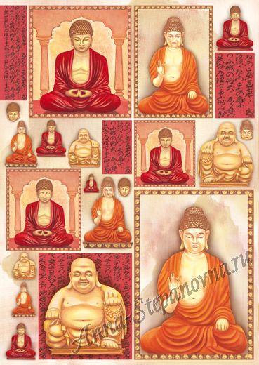Большая карта для декупажа «Будда»