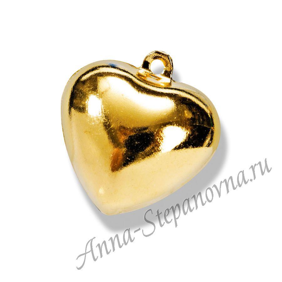 Бубенчики «Сердечко золотое»