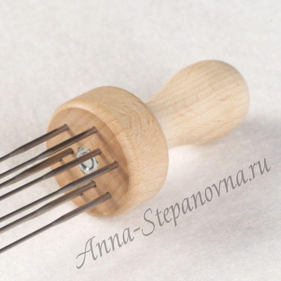 Деревянная ручка для 9 игл
