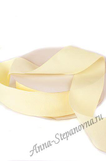 Лента репсовая светло-желтая