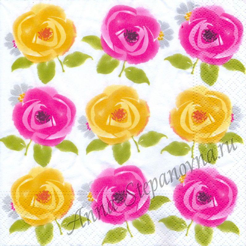 Салфетка для декупажа «Цветы»
